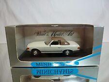 MINICHAMPS 33440 MERCEDES BENZ 350 SL CABRIOLET - WHITE 1:43 - EXCELLENT IN BOX
