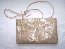 Giani Bernini Tan Snake Skin Purse Shoulder Bag Clutch P11L
