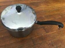 Vintage Faberware Pot - 4 quart Stainless Steel Saucepan with Lid
