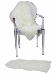 RUGLUSH Super Soft Sheepskin Faux, Excellent Quality, Seat Cushion, Area Rug