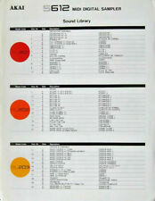 Akai Brochure for the Sound Library for S612 Digital Sampler, Original 2-Sided