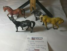 3 Durham Manufacturing Wild Horses and a Made in Japan Donkey...