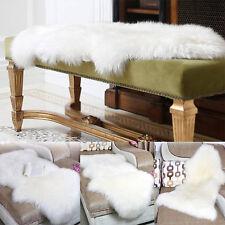White Faux Wool Fur Carpet Chair Cover Seat Pad Soft Sheepskin Floor Rugs Mat US