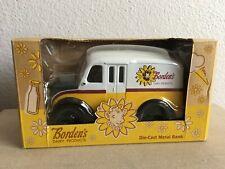 Rare Ertl Collectibles Die-Cast Metal Borden's Dairy Delivery Truck Bank MIB