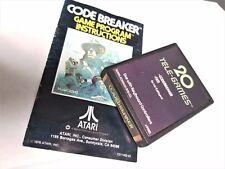 Atari 2600 Game Codebreaker Code Breaker Manual SEARS Atari 2600 Game System #W5