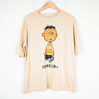 Peanuts Franklin Mens Graphic T-Shirt Size Large Beige