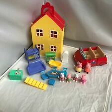 Peppa Pig figures and house playset With Furniture Red Car Clean Free Shipping