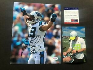 Luke Kuechly Hot! signed autographed Panthers Cam 8x10 photo PSA/DNA coa