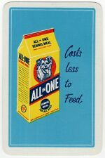 Playing Cards Single Swap Card Vintage KENNEL MEAL Dog Food FOR ALL DOGS Advert
