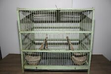 ANTIQUE GREEN FRENCH BIRD CAGE.