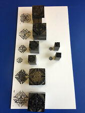 Vtg Knights Of Columbus Amp Forign War Letter Standing Press Wooden Printing Block
