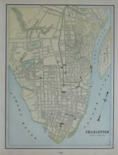 Original 1900 Streetcar Map CHARLESTON South Carolina The Citadel Baseball Park