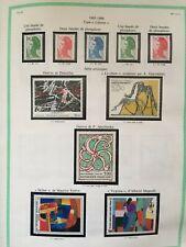 Timbres France 1985/1986 neufs** sur feuilles YT. Voir photos