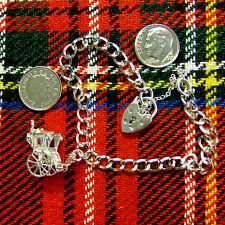Second hand Sterling silver charm bracelet