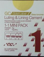 GC Fuji 1 Luting & Lining Cement Dental Glass Ionomer Light Yellow Radiopaque