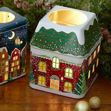 "PartyLite ""Winter Village"" 3-Wick Jar Candle Tin, New"