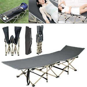 Heavy Duty Single Folding Bed Camping Travel Guest Adult Children Lightweight UK