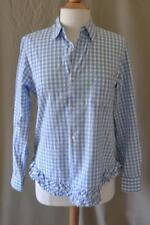 Comme des Garcons GIRL Blue Gingham Cotton Long Sleeve Blouse Size Small