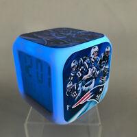 New England Patriots NFL LED Digital Alarm Clock Watch Lamp Gift Tom Brady