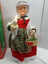 "MRS CLAUS Vintage TELCO 24"" Animated Illuminated Christmas Motionette W/Box RARE"