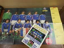 Football Magazine ONZE (MONDIAL) No 24 (1977) PosterCALENDRIER KEEGAN + FRANCE