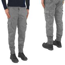 Pantaloni Uomo Tasche laterali Cargo jeans COTONE Multitasche tasche america