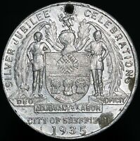 1935 | George V Queen Mary Silver Jubilee City Of Sheffield Medal | KM Coins