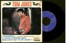 "TOM JONES - Thunderball / It Takes A Worried Man + 2 - SPAIN EP 7"" Decca 1965"