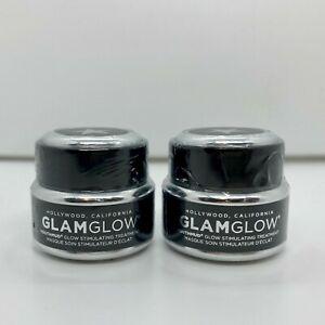2x GlamGlow YouthMud Glow Stimulating Treatment Mask 15g / 0.5oz Sealed