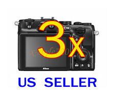 3x Nikon Coolpix P710 Coolpix P7100 Camera LCD Screen Protector Guard Film