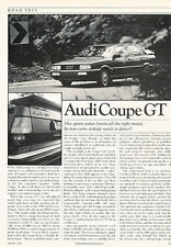 1985 Audi Coupe GT - Road Test - Classic Article D31