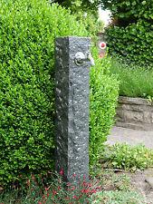 Wasserzapfsäule  Diorith anthrazit Wasserzapfstelle Aussenwasserhahn Naturstein