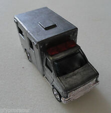 MATCHBOX  UNPAINTED AMBULANCE VERY RARE 1996 CASTED RUBBER TIRES