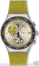 Swatch Watch YCS565 NEW Green Wink Irony Chronograph Gift Original