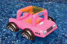Pool Buggy Toddler Seat FLOAT Kid JEEP Vinyl SUV ATV Swim Pool Party PINK 98450P