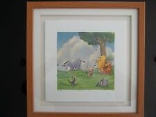 Walt Disney Classic Pooh Lithograph ''Pin the Tail on the Donkey''