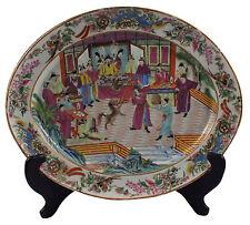 Large 19thC Chinese Famille Rose Mandarin Porcelain Platter
