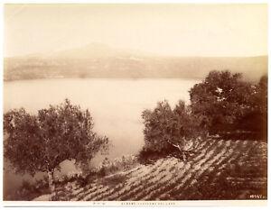 Albano Laziale Rome Panorama with lake Original albumen photo Alinari 1900 L668