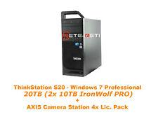 €1165+IVA Lenovo ThinkStation S20 20TB (2x10TB SATA) AXIS Camera Station 4xLic.