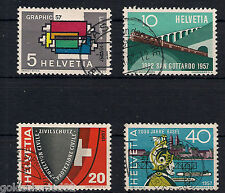 Schweiz - 1957 - Mi. Nr. 637-640- Gestempelt