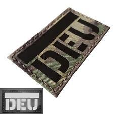 IR infrared germany flag DEU deutschland flagge laser touch fastener patch