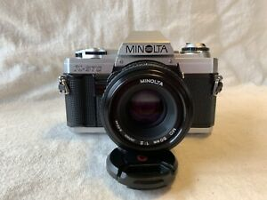 Minolta X-370 35mm SLR Film Camera with Minolta MD 50mm f/2 Lens