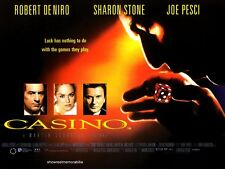 CASINO Robert De Niro Original 1995 UK cinema mini film poster Sharon Stone