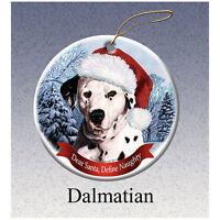 Dalmatian Howliday Porcelain China Dog Christmas Ornament
