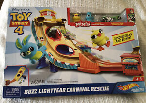 Hot Wheels Toy Story Buzz Lightyear Carnival Rescue Disney Pixar Mattel