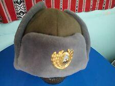 Cloth Ushanka w/ Cokade Officer Romanian cold war Army communist block
