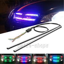 "2pcs 24"" RGB LED Knight Rider Strip Light Under Hood Behind Grille Scanner LED"