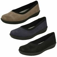 Ladies Clarks Cloud Steppers Ayla Low Casual Slip On Shoes