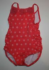 New Gymboree Tulle Rosette Dot Swimsuit Size 12-18m NWT Spring Peach