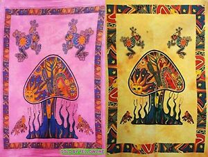 2 piece Mushroom Tapestry Bohomen Indian Wall Hanging Wholesale (77cmX102cm)PY-4